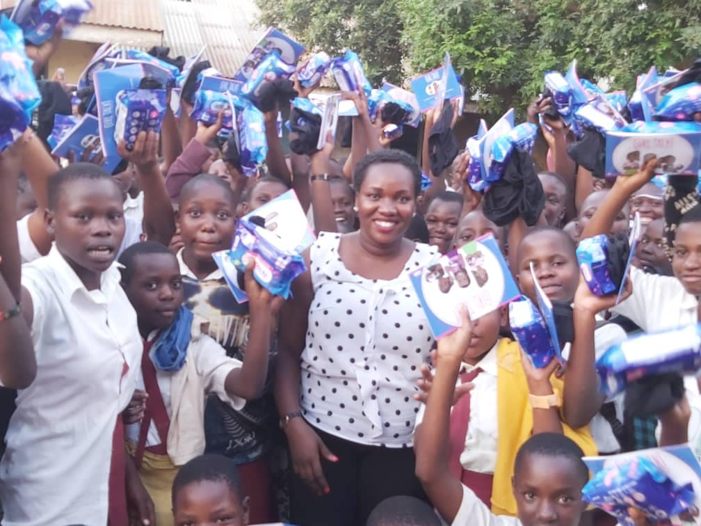 nwc-donates-sanitary-pads-to-different-school-in-mbale